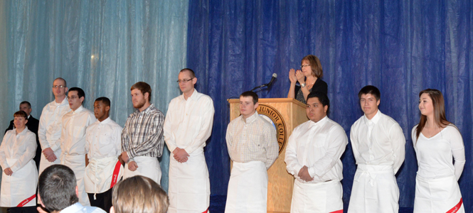 Students honored at dinner